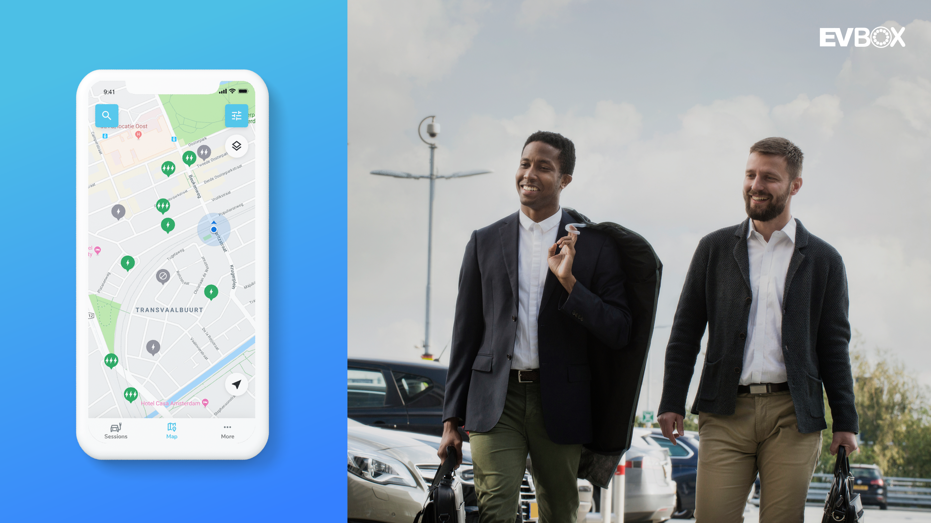 EV charging station app