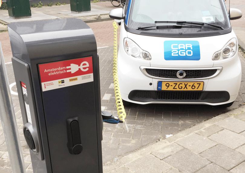 car2go smart fortwo electric drive amsterdam elektrisch rijden laadpalen