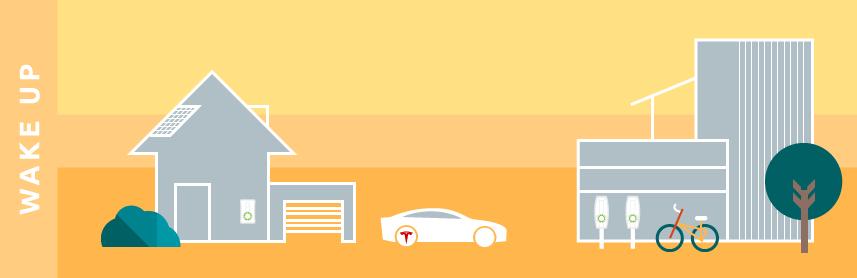 illustration minimal future electric driving sustainable transport