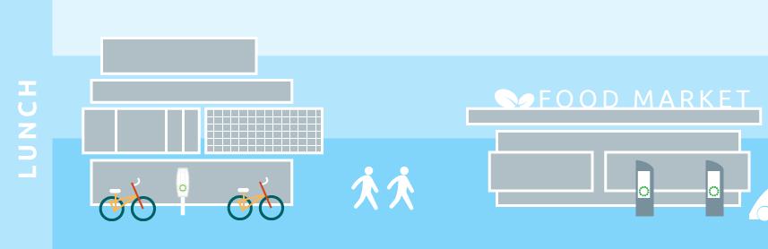 illustration minimal sustainable transport future