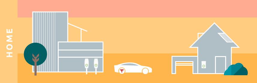 illustration minimal tesla electric driving future sustainable transport