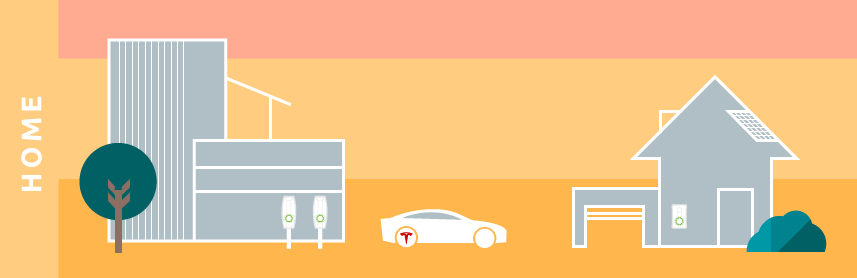 illustration minimal tesla electric driving future sustainable transport