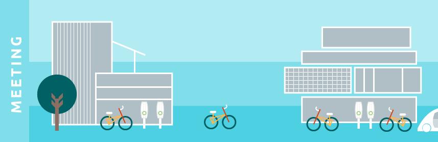 illustration minimal future sustainable transport electric driving