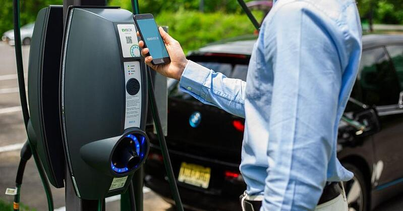 EV charging stations already come equipped with payment options