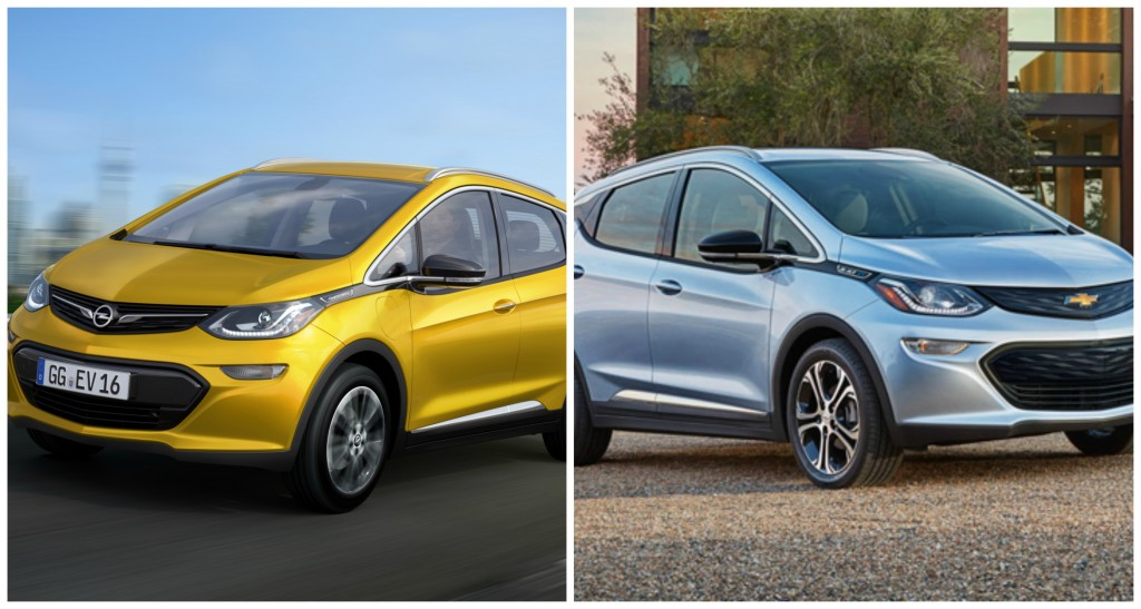 Opel Ampera-e vs Chevrolet Bolt