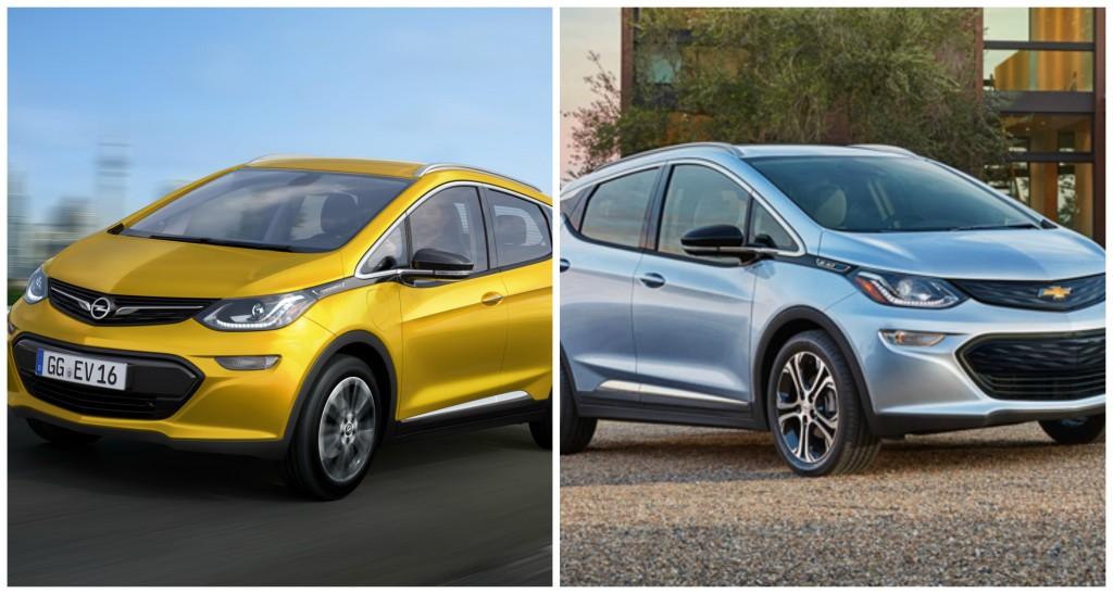 Opel Ampera-e vs Chevrolet Bolt