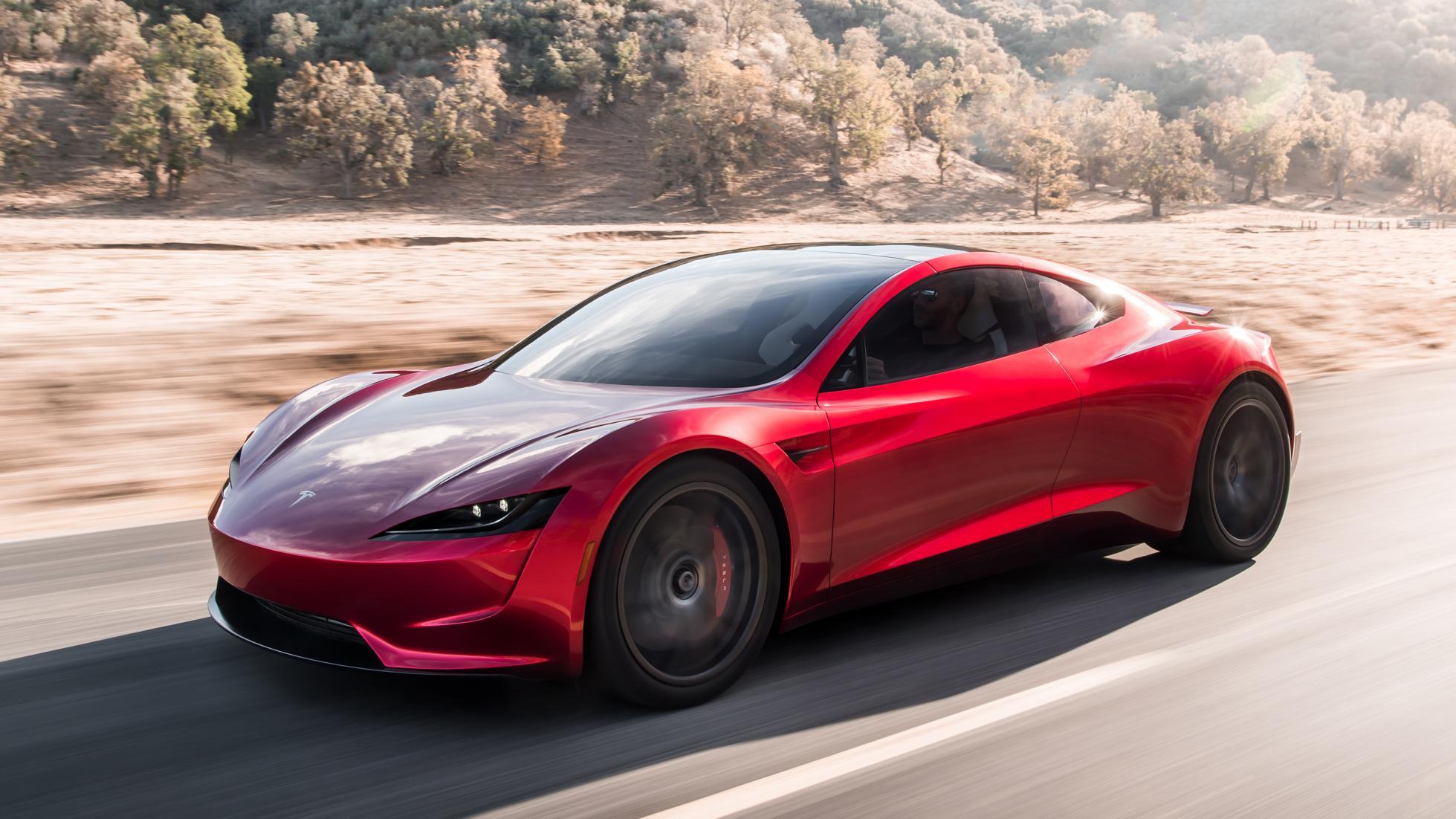 telsa roadster electric car 2020